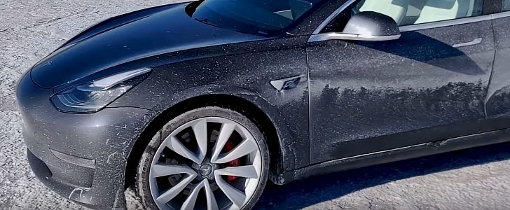Watch a Tesla Model 3 Have a Scary Spin at 130 MPH on Salt Flats
