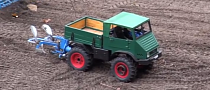 Watch a Unimog 401 Tractor Plow a Field in 1:8 Scale [Video]