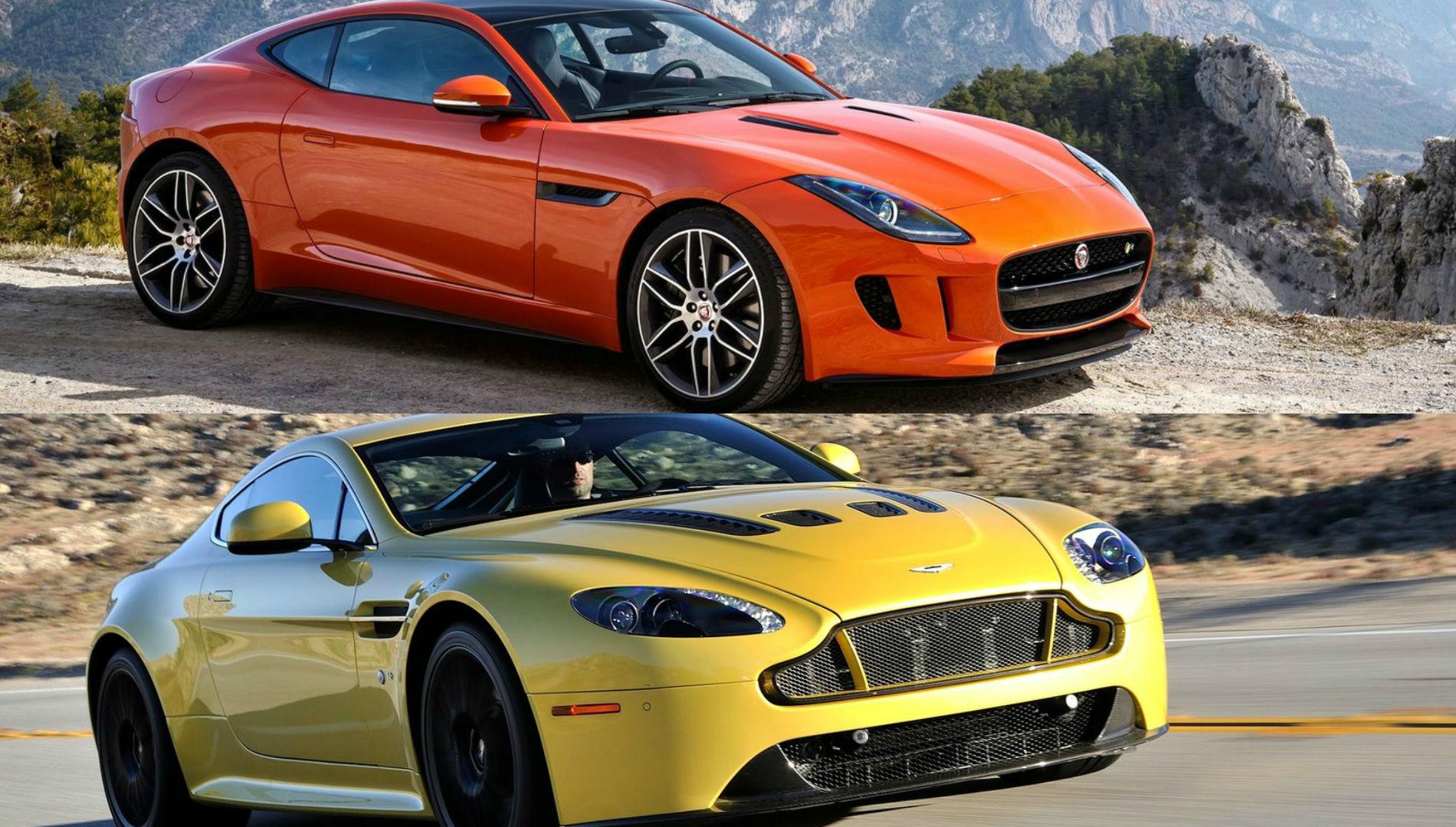 Watch A V12 Vantage S And Jaguar F Type R Leisurely Reach 250 Km H Autoevolution