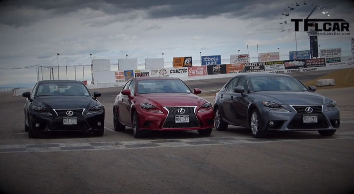 Watch an All 2014 Lexus IS Thunder Lap [Video]