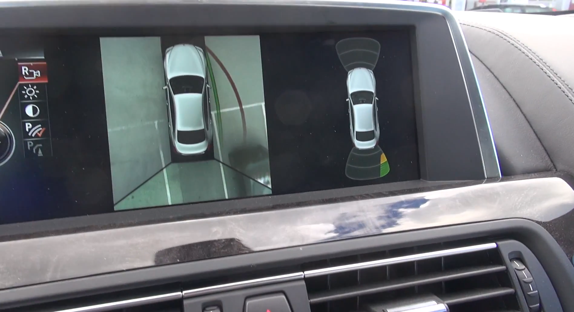 Watch How Top View Works On A Bmw M6 Gran Coupe Video 66287 on backup camera with sensors