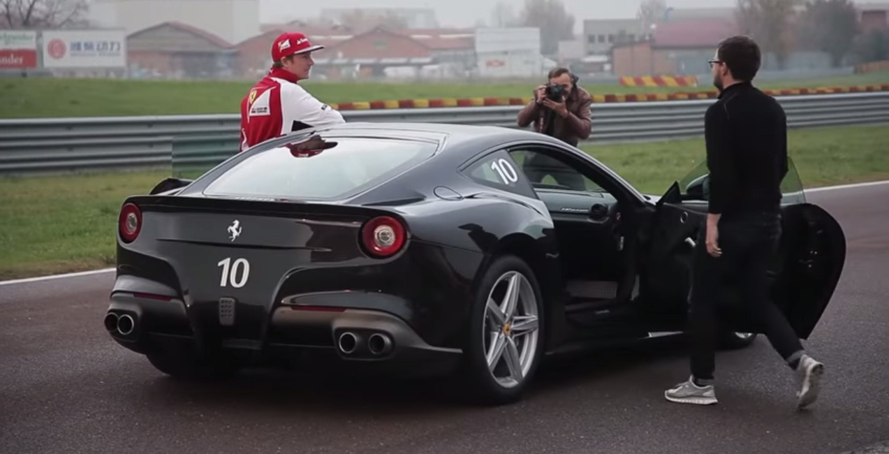 Watch Kimi Raikkonen Showboating In A Ferrari F12