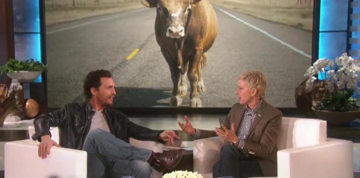 Watch Matthew McConaughey's Face when He Sees Ellen's ...