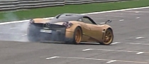 Watch Pagani Test Driver Davide Testi Powerslide the Huayra for Charity [Video]