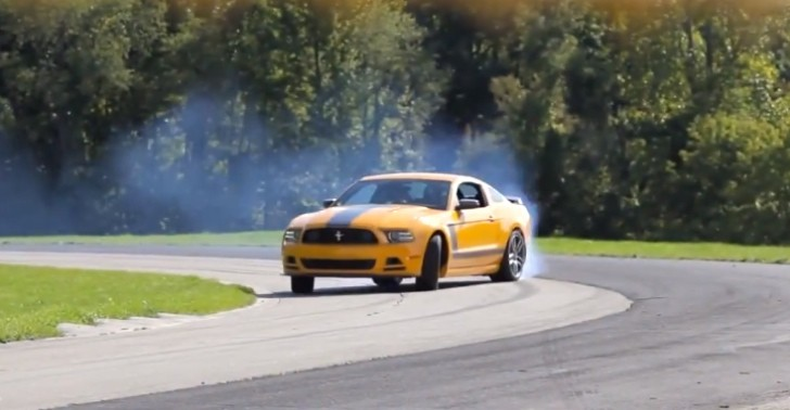 Watch Tanner Foust drift a Mustang at the Recaro Factory [Video]
