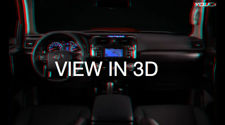 watch the 2014 toyota 4runner interior in 3d autoevolution. Black Bedroom Furniture Sets. Home Design Ideas