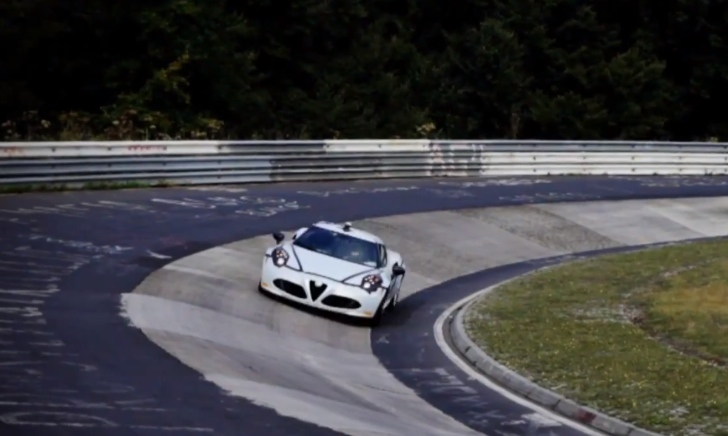 Watch the Alfa Romeo 4C Lap the Nurburgring [Video]