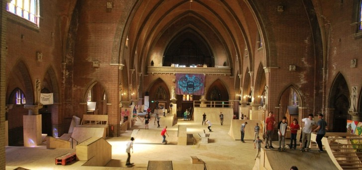 Watch the Dutch Skateboarding inside a Church: Skatehal Arnhem [Video]