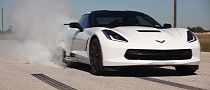 Watch the Hennessey 2014 Corvette Stingray HPE500 Do a Massive Burnout [Video]