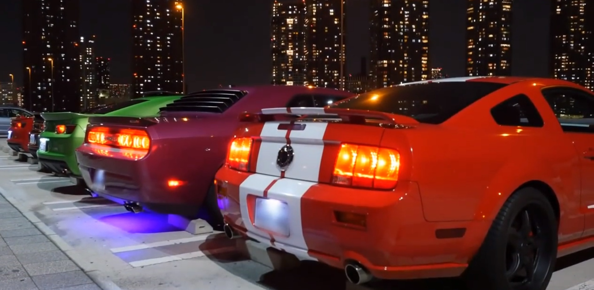 Watch Muscle Car Enthusiasts in Japan Go for a Night Drive in Tokyo ...
