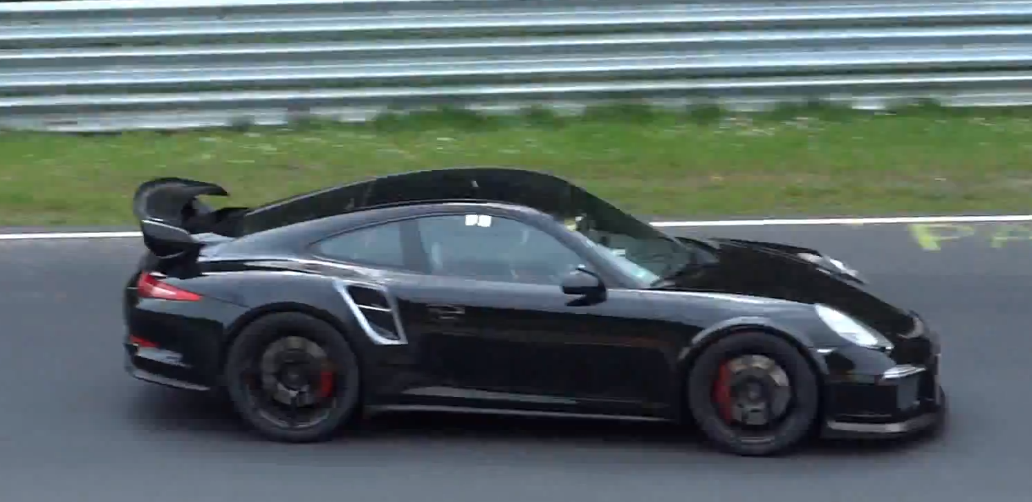 watch the new porsche 911 gt2 testing at the 39 ring. Black Bedroom Furniture Sets. Home Design Ideas