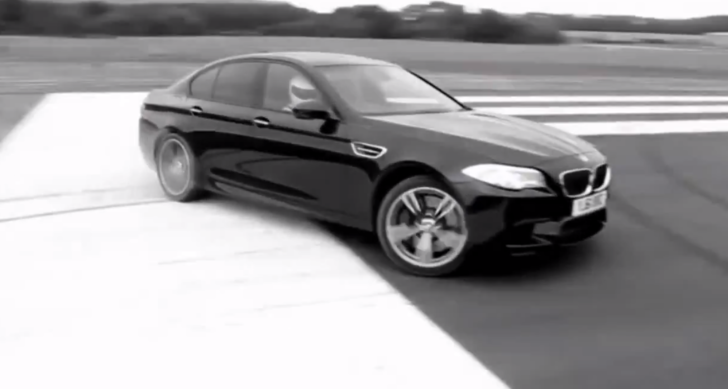Watch the Stig Shred the Tires off a BMW F10 M5 [Video]