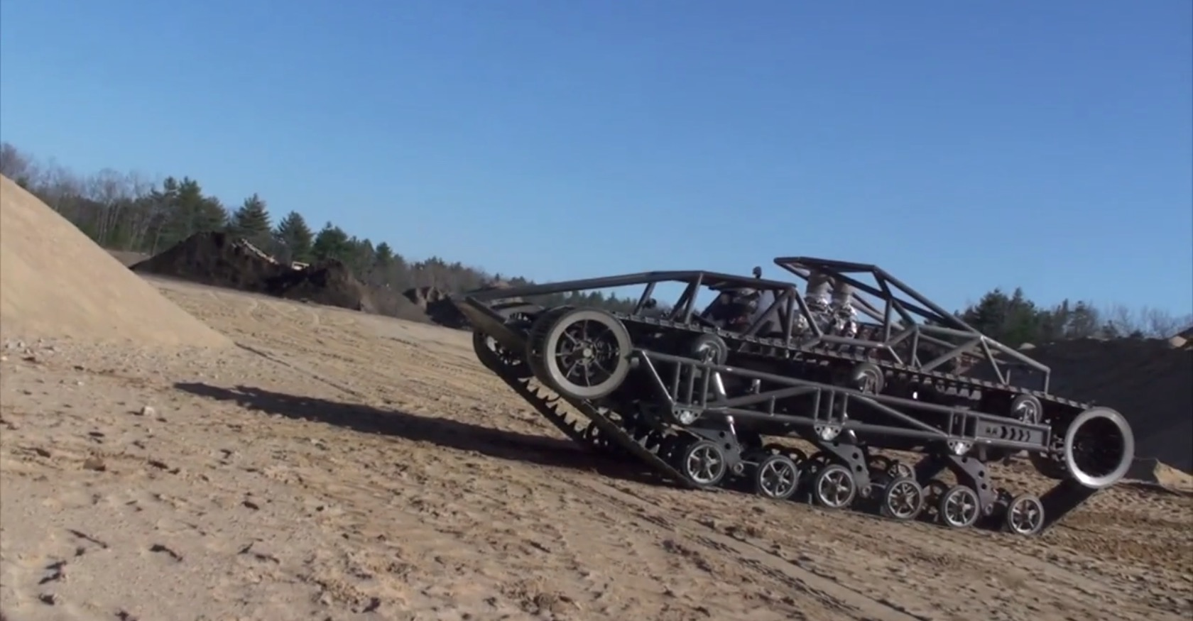 Watch The Tracked Light Tank Used In Mad Max Fury Road Hit 70 Mph