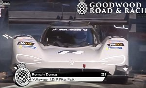 Watch the Volkswagen I.D. R Set a New Goodwood Electric Car Record