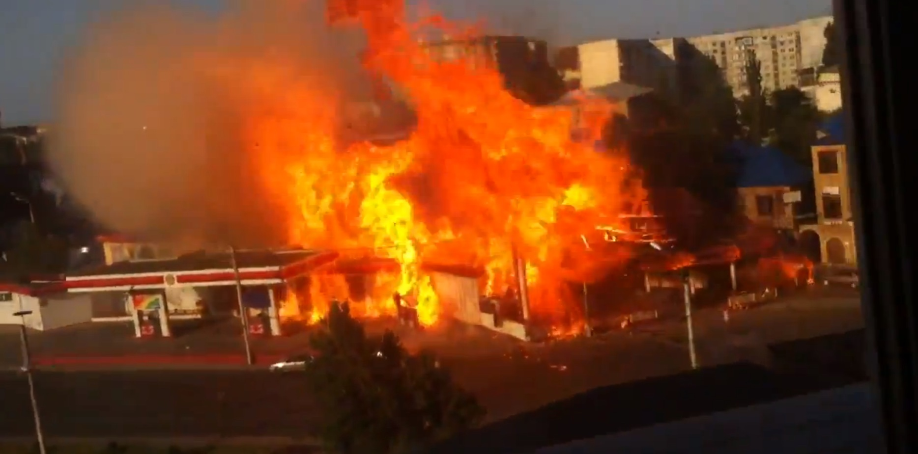 Watch This Terrifying Gas Station Explosion From Russia