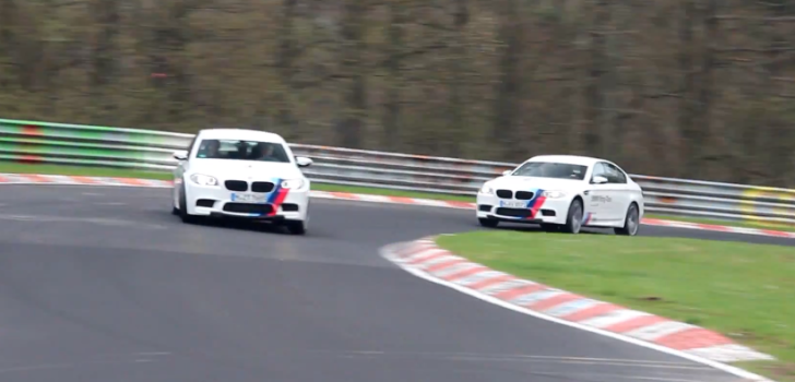 Watch Two BMW M5 Ring Taxis Drift on the Nurburgring [Video]