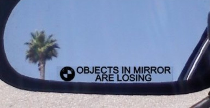 We Found the Perfect Mirror Decals for Racing BMW Drivers