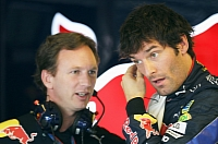 Mark Webber and RBR boss Christian Horner
