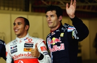 Lewis Hamilton and Mark Webber