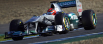 Webber Plays Down Schumacher's Fast Lap at Jerez