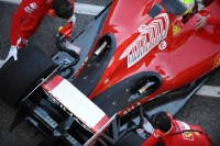 Ferrari uses an exposed exhaust system