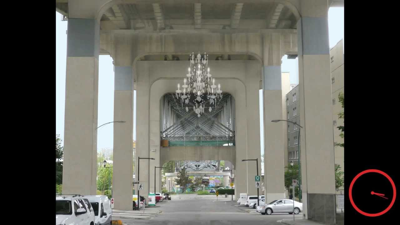 We re just gonna hang this here huge chandelier to light for Granville home of hope