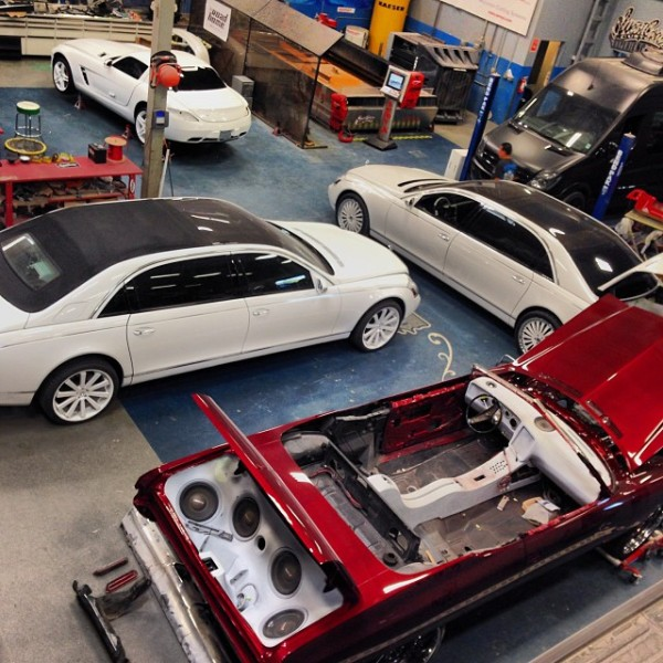 West Coast Customs Working on Maybach Landaulet for Tyga ...