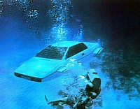 The original submersible Esprit during one of the filming takes.