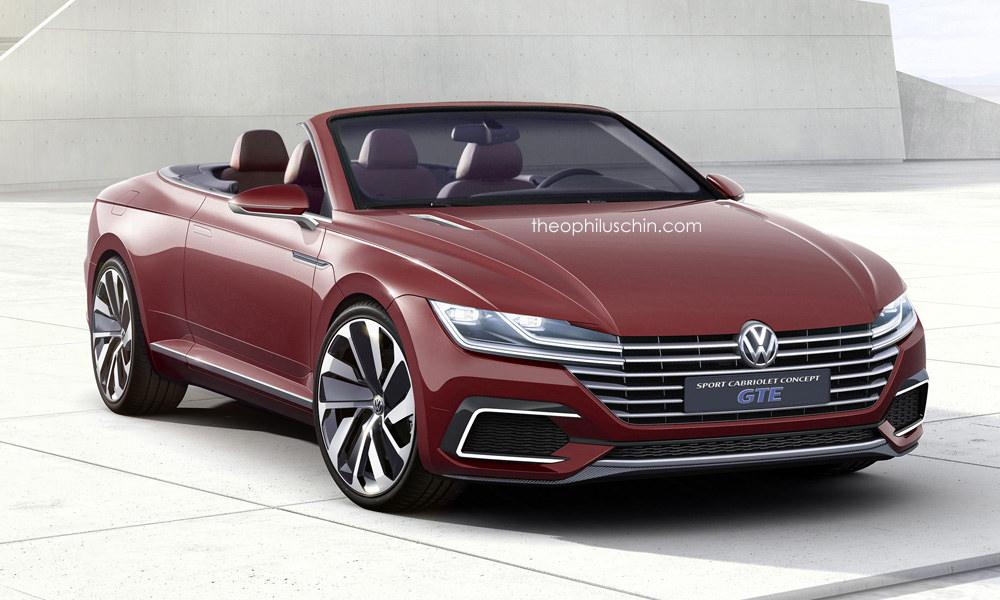 vw sport cabriolet gte rendered a future passat cabriolet autoevolution. Black Bedroom Furniture Sets. Home Design Ideas