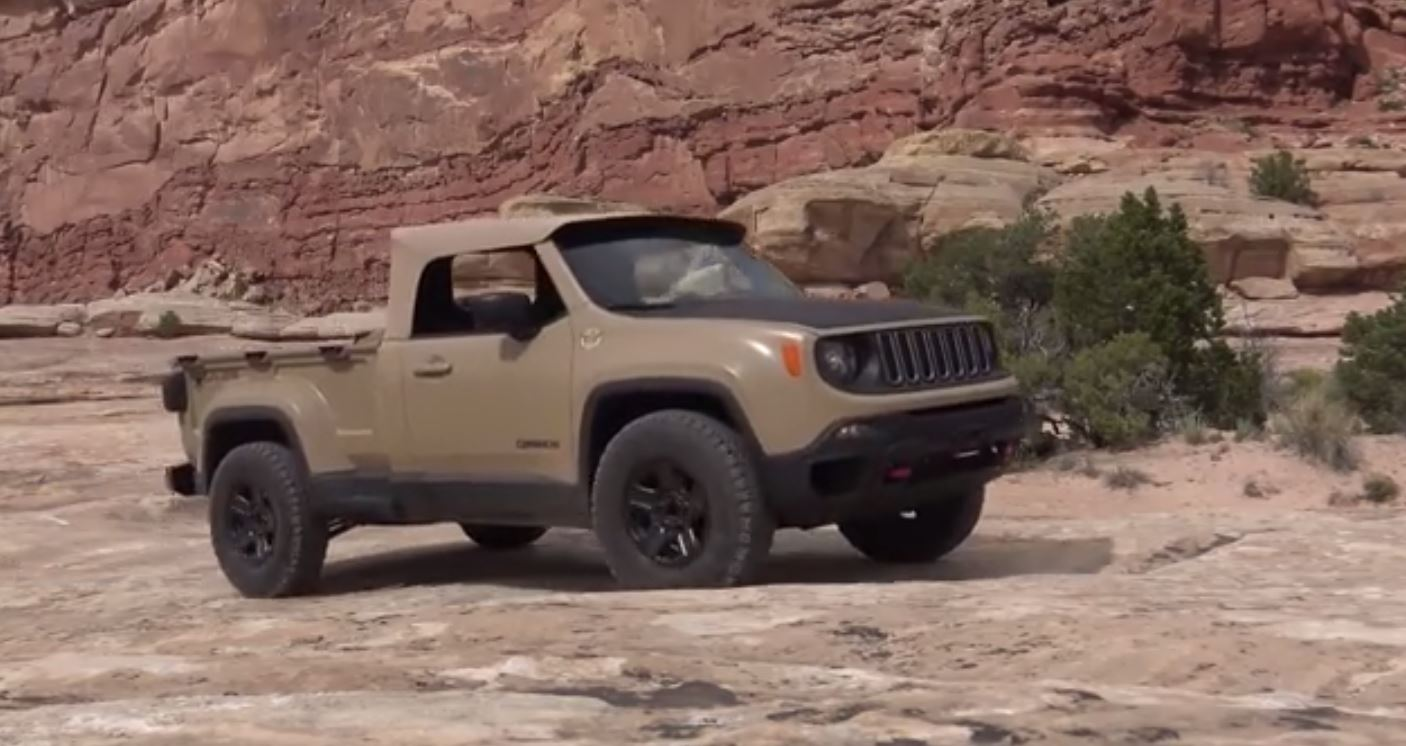 What it 39 s like to drive a jeep renegade pickup with a for Jeep with diesel motor