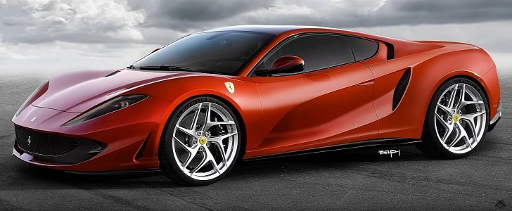What Would The Ferrari 812 Superfast Look Like As A Mid Engined V12 Supercar Autoevolution