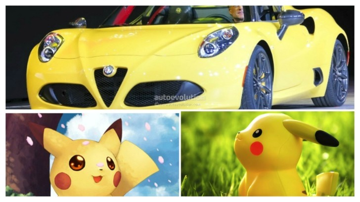 What? Yellow Alfa Romeo 4C Spider Looks Like Pikachu ...