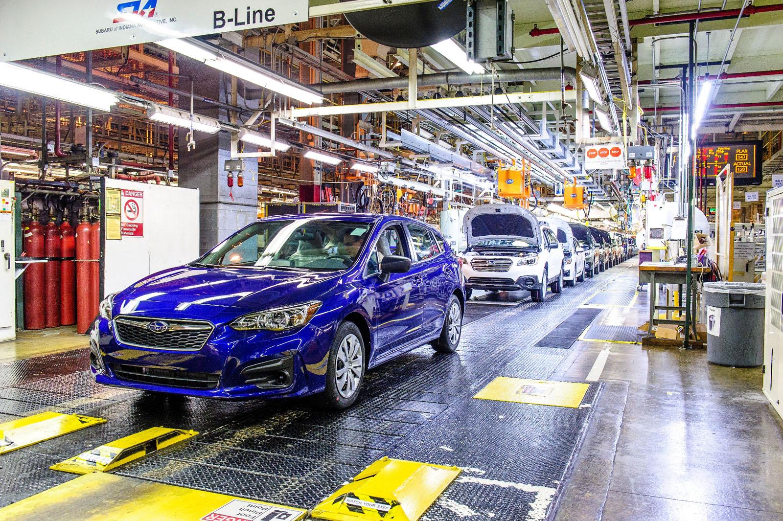 Subaru builds first American-made Impreza in Indiana