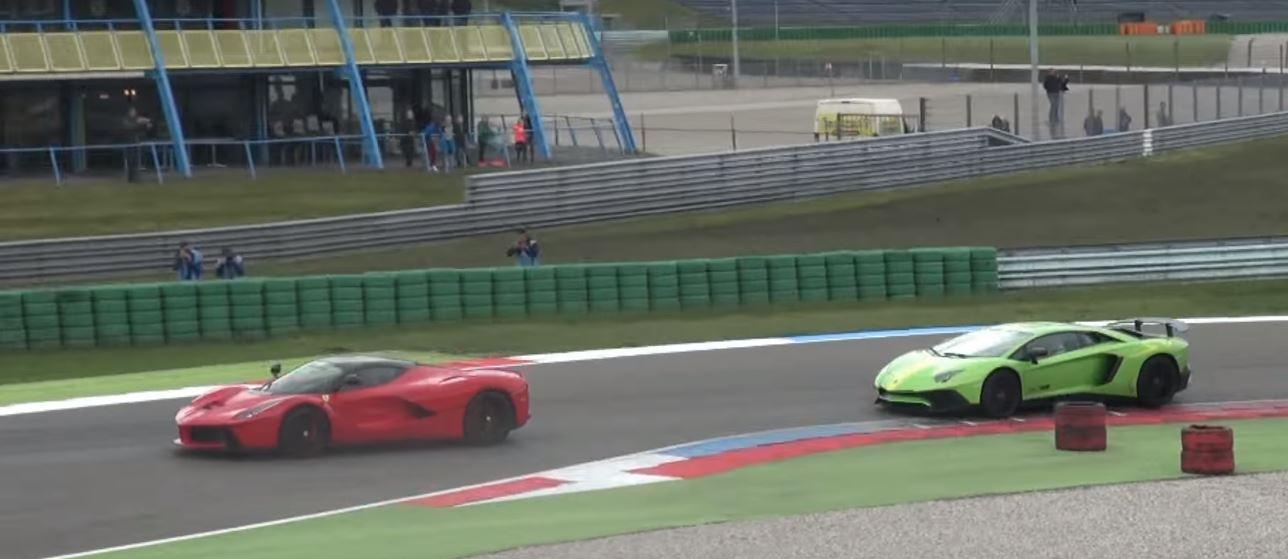 When a Lamborghini Aventador SV Dared a LaFerrari On the ... Lamborghini Vs La Ferrari on la ferrari vs corvette, la ferrari vs koenigsegg, la ferrari vs bugatti, la ferrari vs mustang,