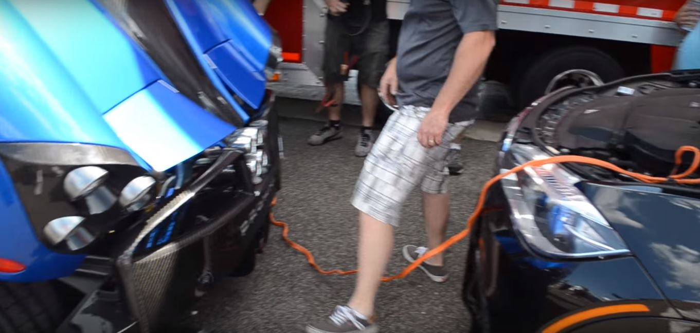 When You Jump-Start a Pagani Huayra, the V12 Start-Up Sound