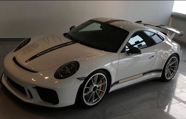 White 2018 Porsche 911 GT3 with Aftermarket Stripes Is Classy