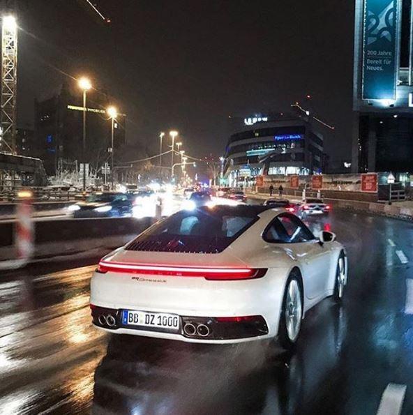 White 2020 Porsche 911 Looks Clean In Stuttgart Traffic
