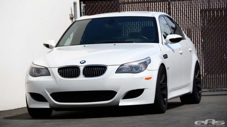 White BMW E60 M5 Receives Spacers and Custom Springs at EAS