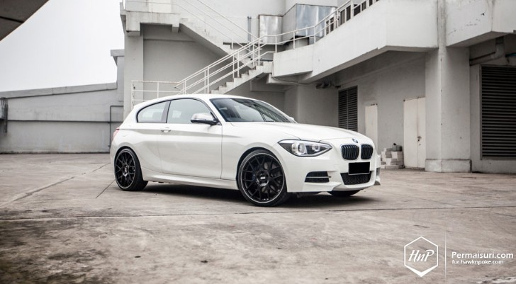 White BMW F21 M135i Wears BBS Rims [Photo Gallery]