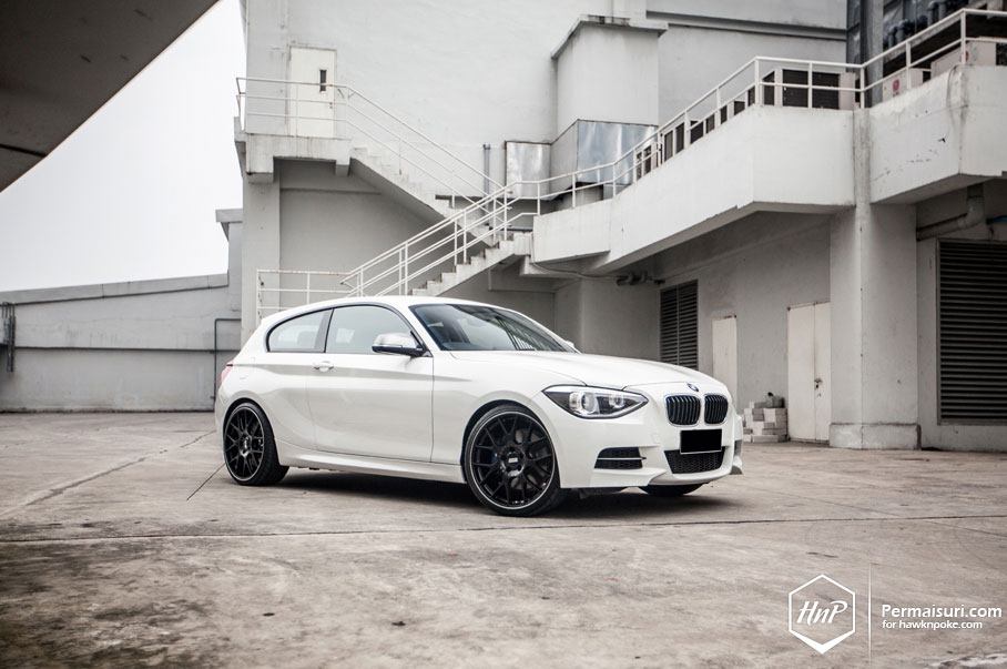 White Bmw F21 M135i Wears Bbs Rims Autoevolution