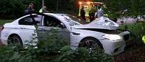 White BMW M5 Crashed in Holland [Video]