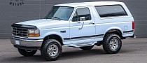 White Chromed 1996 Ford Bronco Clearly Prepares for 4x4 Youngtimer Glory
