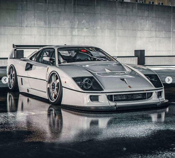 White Ferrari F40 Lm Rendered On Custom Wheels Looks Like An Angel Autoevolution