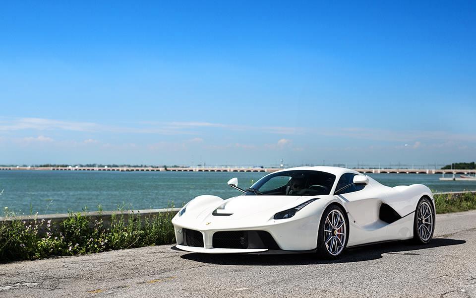 White Laferrari Gets Fxx K Racecar Wheels Looks Mind