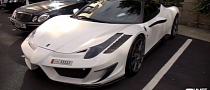White Mansory Siracusa Ferrari 458 in London [Video]