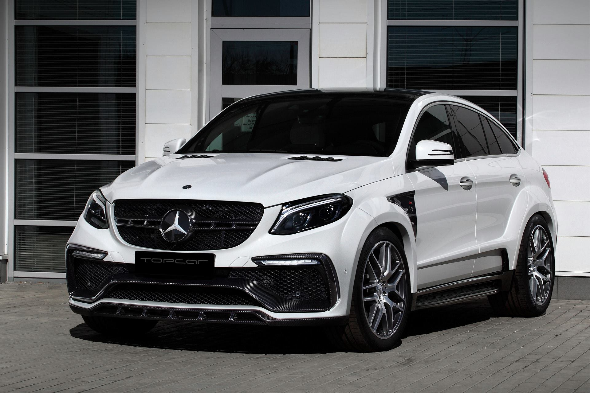 Mercedes Glc Coupe Tuning >> White Mercedes GLE Coupe 63S with Topcar Inferno Kit Has Carbon Details - autoevolution