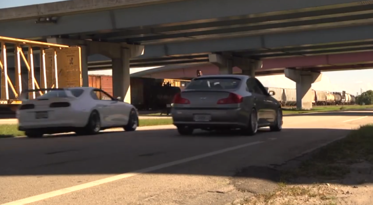 White Toyota Supra Thundering under a Bridge [Video]