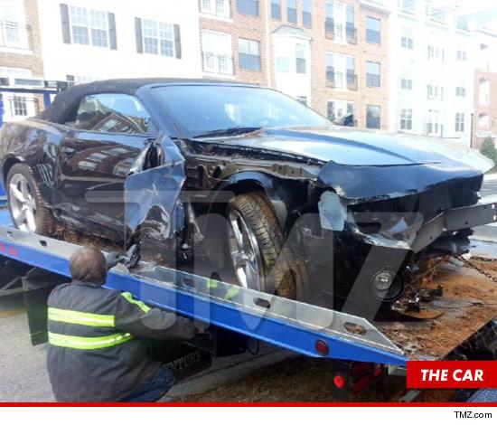 Whitney Houston's Daughter Crashes Camaro