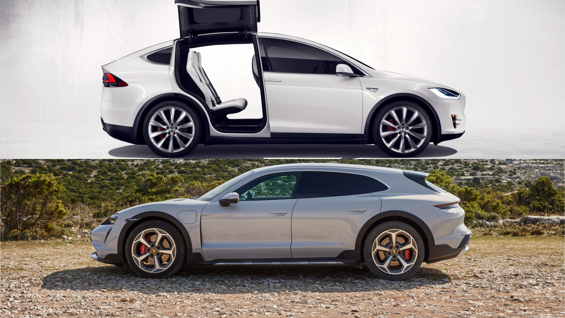 Why a Tesla Model X and a Porsche Taycan Cross Turismo Can Make a Perfect Garage