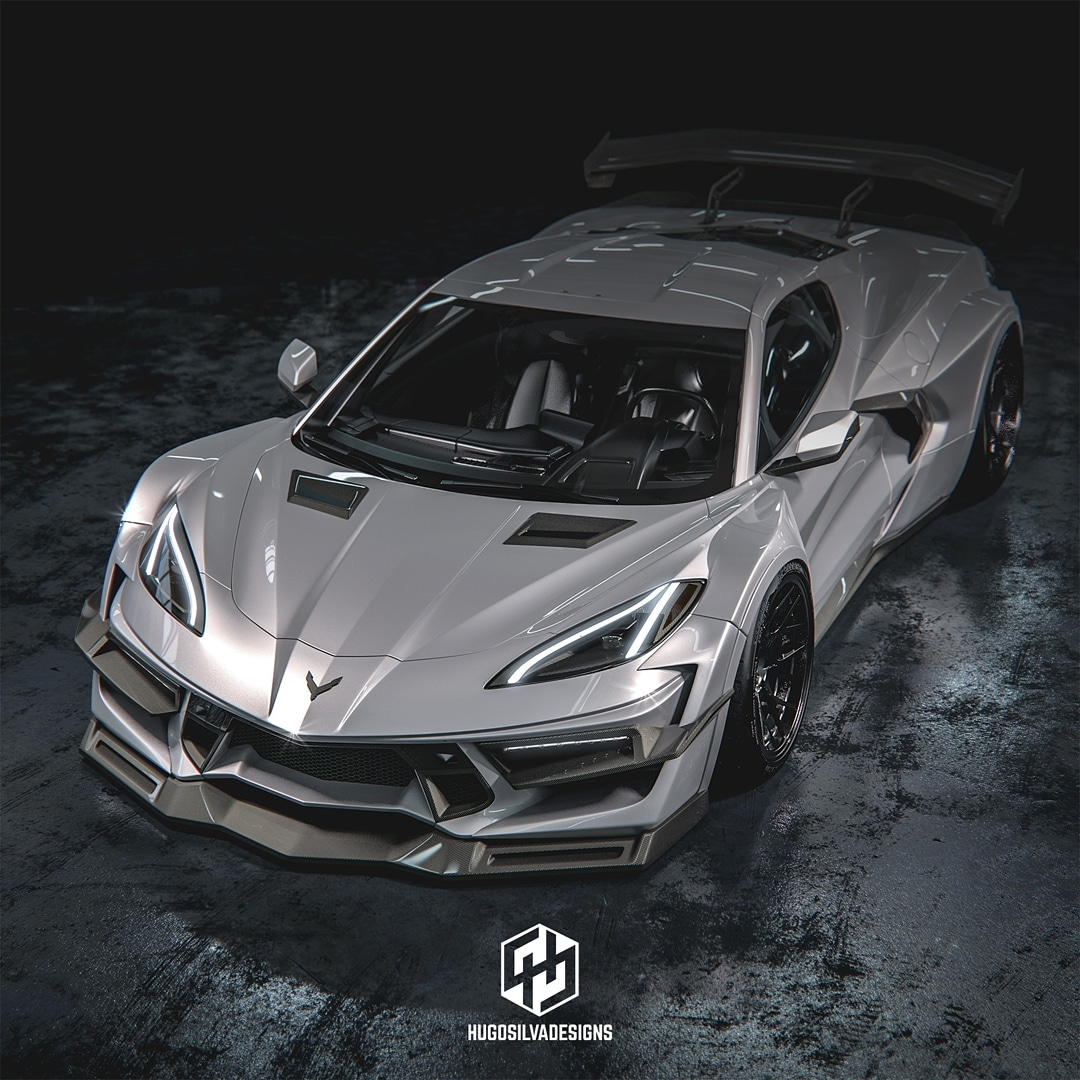 Widebody 2020 Corvette Is Like a Blend of Liberty Walk and ...